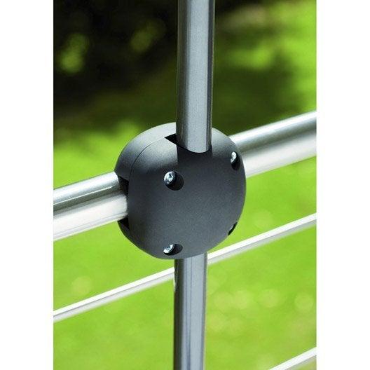 pince de fixation balcon foxi noir leroy merlin. Black Bedroom Furniture Sets. Home Design Ideas