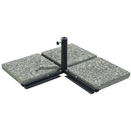 pied en croix lester gris leroy merlin. Black Bedroom Furniture Sets. Home Design Ideas