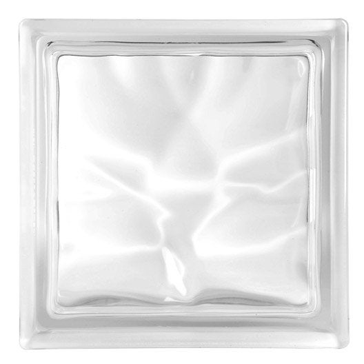 brique de verre pegas ondul e brillante transparente leroy merlin. Black Bedroom Furniture Sets. Home Design Ideas
