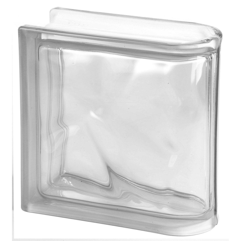 Brique De Verre Transparent Ondul Brillant Leroy Merlin # Etagere Verre Et Brique