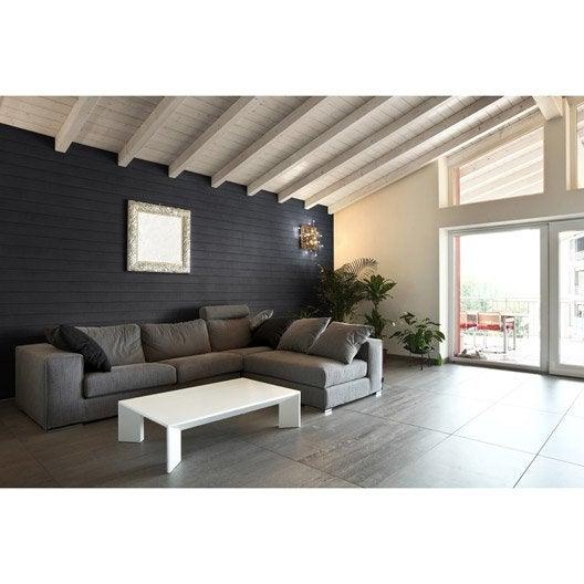 Panneau woodie en polyur thane gris 790x300x37mm 2 37m leroy merlin - Panneau isolant decoratif ...