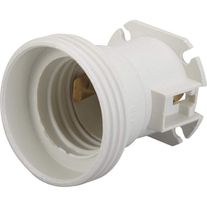 Lot De 5 Douilles électriques E27 à Vis Thermoplastique Blanc Zenitech
