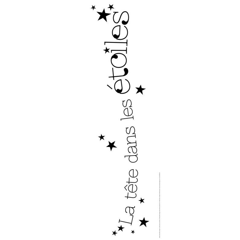 Sticker La Tête Dans Les étoiles 24 Cm X 69 Cm