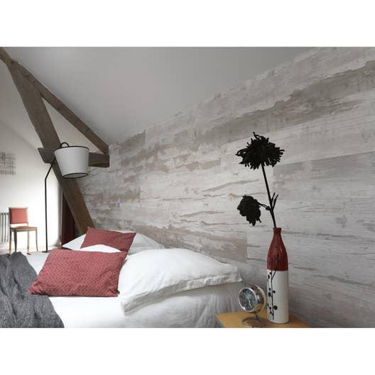 Lambris PVC bois cabane naturel GROSFILLEX L.120 x l.15.4 cm x Ep.6 ...