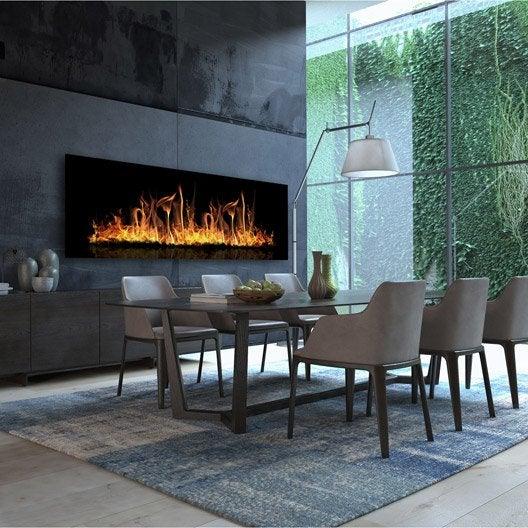 radiateur lectrique rayonnement decowatt feu ardent 1100 w leroy merlin. Black Bedroom Furniture Sets. Home Design Ideas