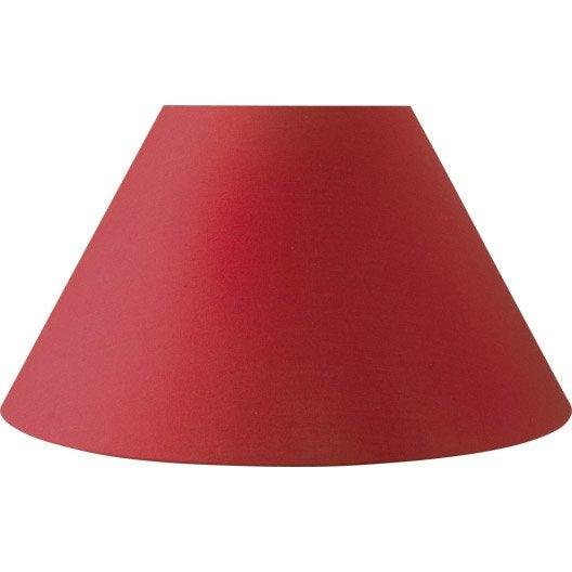 Abat Jour 50 Cm : abat jour sweet 50 cm toiline rouge rouge n 5 inspire leroy merlin ~ Teatrodelosmanantiales.com Idées de Décoration
