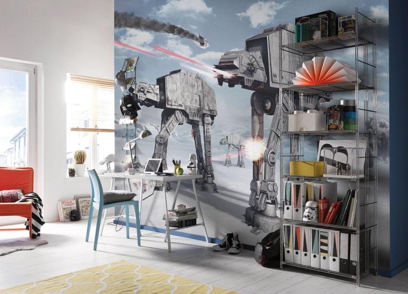 Chambre Contemporaine Avec Poster Mural Xl Leroy Merlin