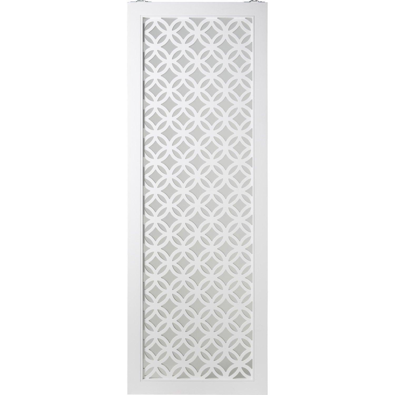 Porte Coulissante Blanc Nath Artens H 204 X L 73 Cm Leroy Merlin