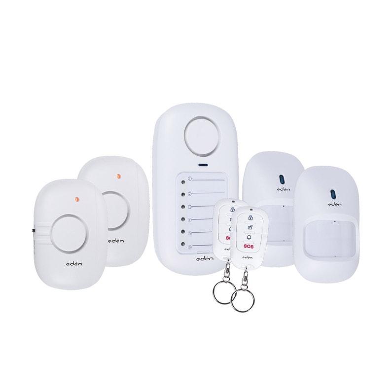 Mini Alarme Avec 4 Détecteurs 2 Télécommandes Eden Sc50 6fr