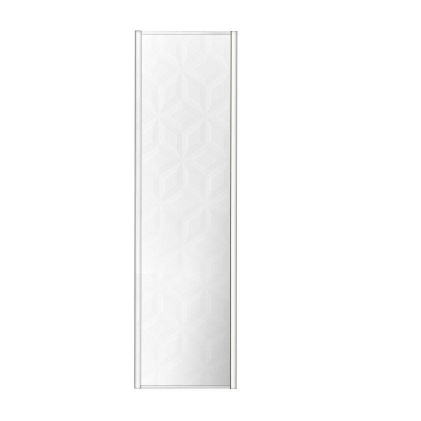 Porte De Placard Coulissante Origami Blanc SPACEO L X H Cm - Porte placard coulissante jumelé avec porte sécurité