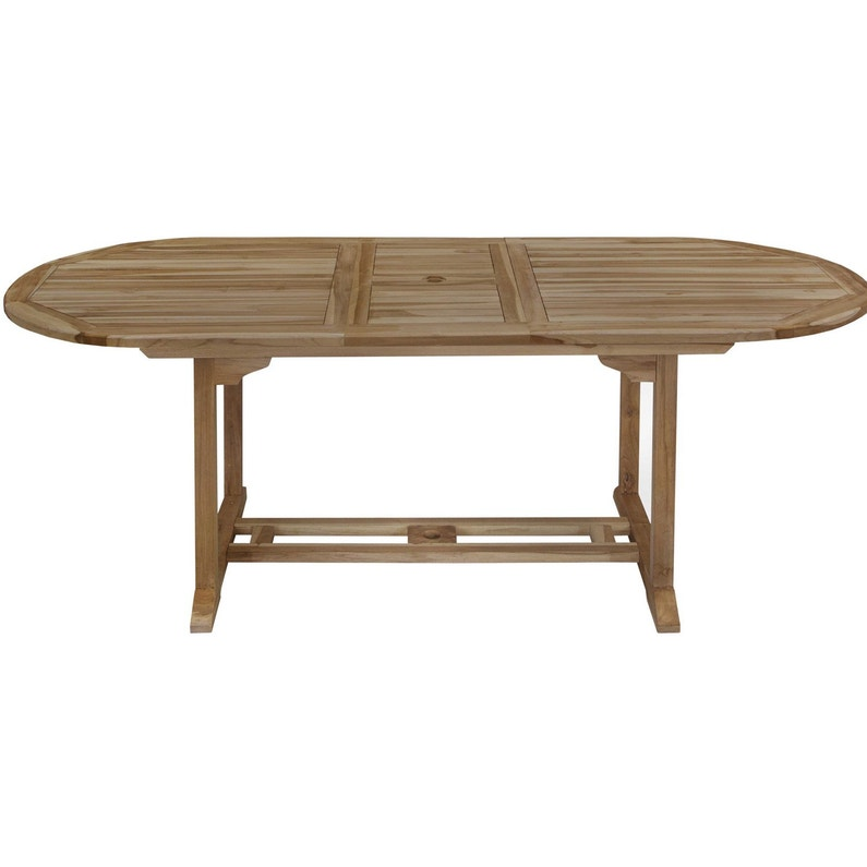 Table de jardin teck Thani ovale | Leroy Merlin