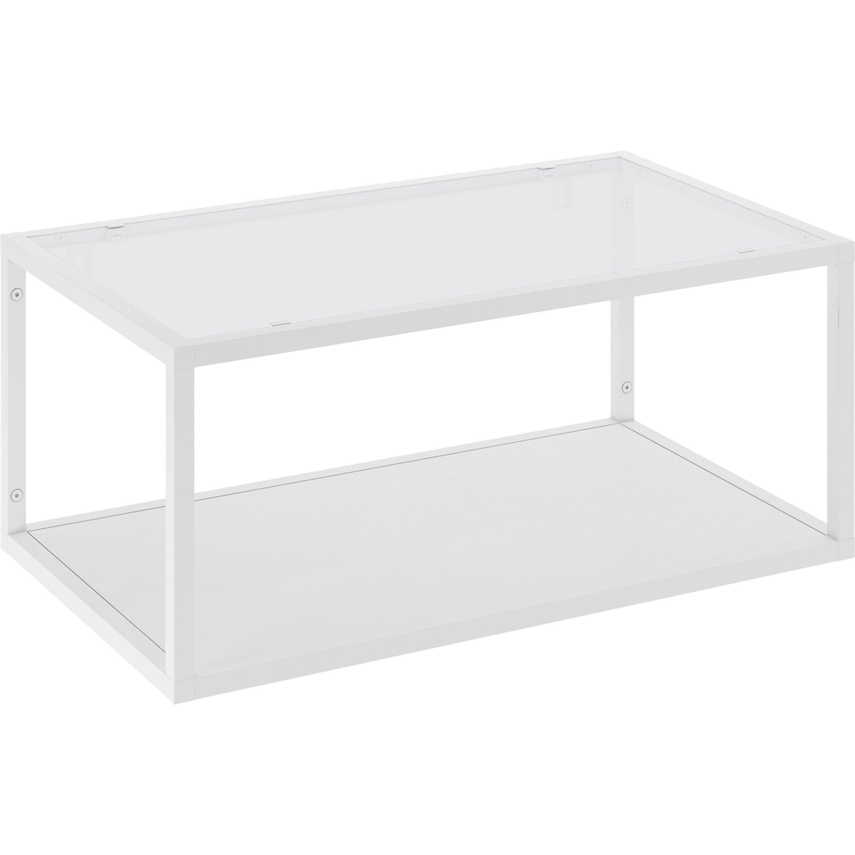 Etagere A Poser Sur Plan Travail etagère aluminium blanc mat delinia id, 2 tablettes l.60 x h.26.5 x p.35 cm