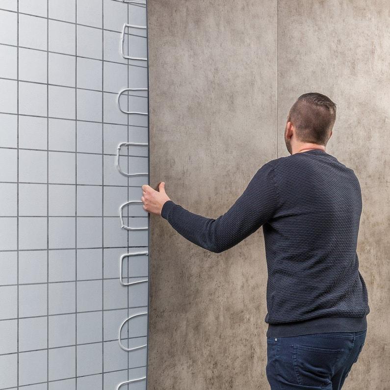 Panneau Mural Pvc Dumawall Gris Lisse Dumaplast L 260 X L 40 Cm