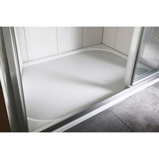 Receveur de douche rectangulaire l.120 x l.80 cm, résine blanc Klara