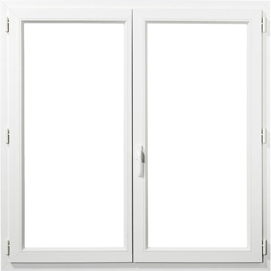 Fenêtre PVC PRIMO, 2 vantaux tirant droit, H135xl140 cm | Leroy