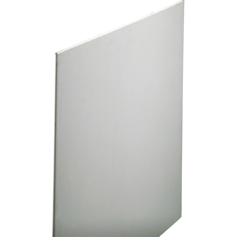 Plaque de pl tre top ce x 0 9 m bra13 leroy merlin for Plaque de placo prix