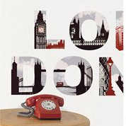 Sticker London 49 cm x 69 cm