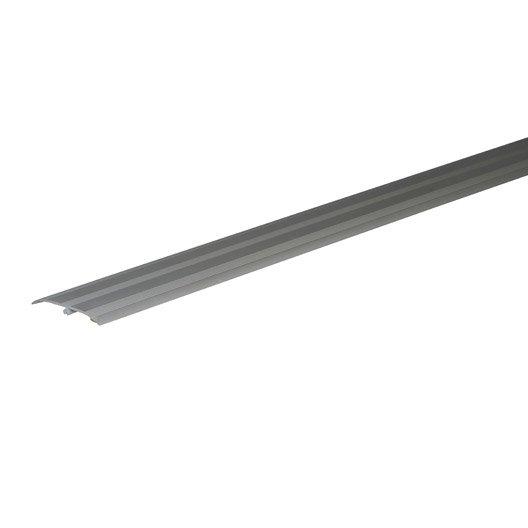 Barre de seuil pour parquet argent cm x mm for Barre de seuil parquet carrelage grande longueur