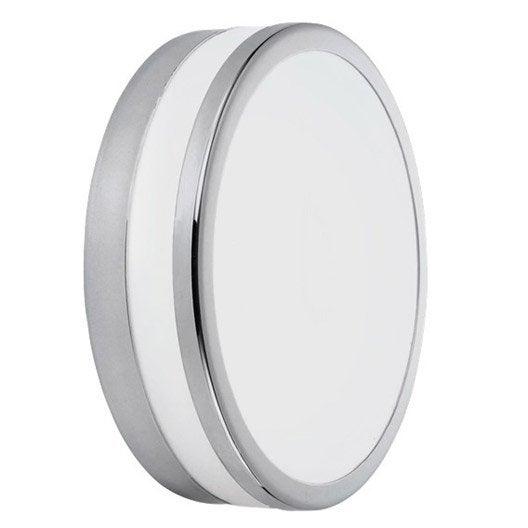Plafonnier fixer palermo eglo sans ampoule e14 blanc for Plafonnier salle de bain leroy merlin