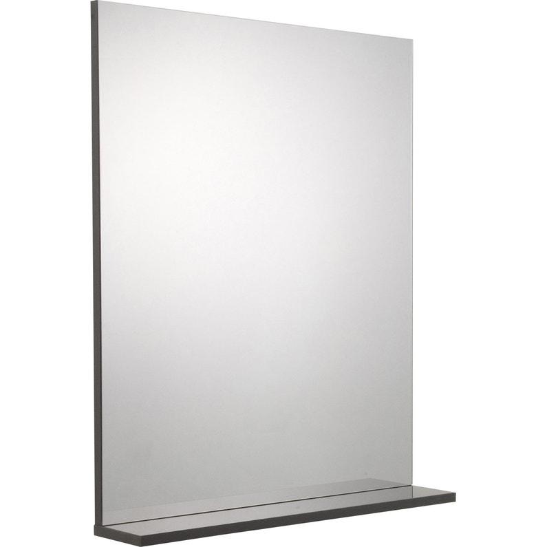 Miroir avec tablette gris, l. 60.0 cm Opale