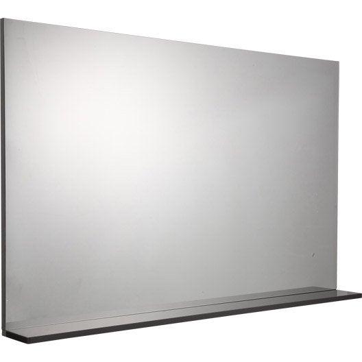 Miroir avec tablette cm opale leroy merlin for Miroir et tablette salle de bain