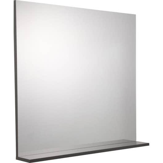 miroir avec tablette gris l 80 0 cm opale leroy merlin. Black Bedroom Furniture Sets. Home Design Ideas