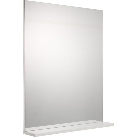 miroir avec tablette opale blanc cm leroy merlin. Black Bedroom Furniture Sets. Home Design Ideas
