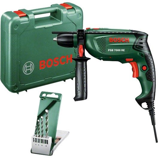 Perceuse filaire à percussion BOSCH PSB 7000 RE 1 vitesse 680 W + 4