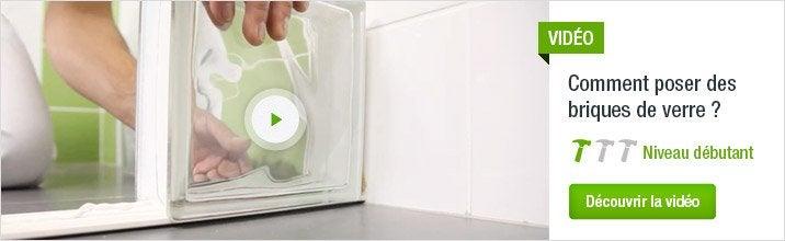 Kit et produits de pose pour brique de verre plaquette de parement et brique de verre leroy - Pose de brique de verre ...