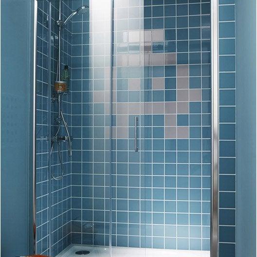 Porte de douche coulissante 97 100 cm profil chrom remix2 leroy merlin Porte de douche 100 cm