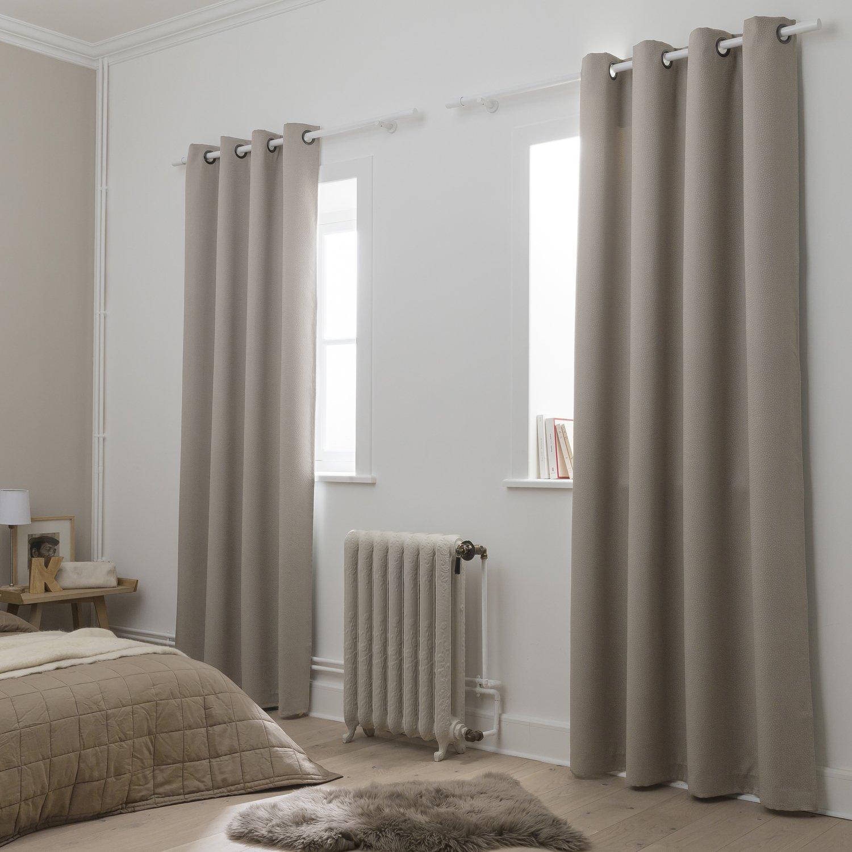 Rideaux Design Pour Chambre des doubles rideaux beiges occultants pour la chambre