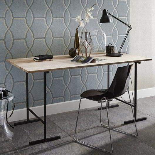 tr teau acier h 75x71 cm pour charge utile de 200 kg. Black Bedroom Furniture Sets. Home Design Ideas