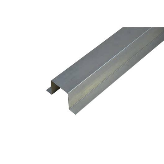 Goulotte produit de finition gris acier galvanis leroy - Goulotte de chantier ...