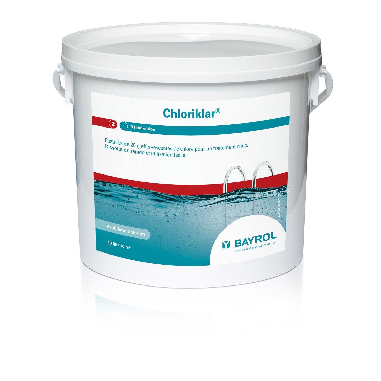 chlore choc piscine bayrol chloriklar pastille 5 kg leroy merlin. Black Bedroom Furniture Sets. Home Design Ideas