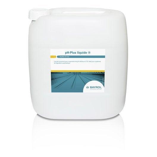 Rehausseur de ph piscine bayrol liquide 25 kg leroy merlin for Augmenter le ph piscine