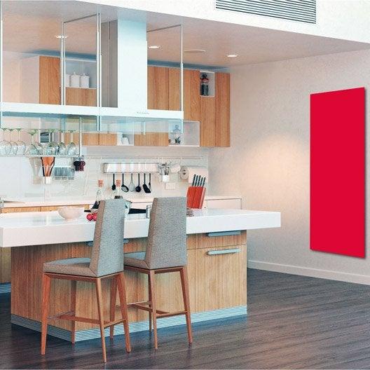 radiateur lectrique rayonnement uni rouge 1100 w. Black Bedroom Furniture Sets. Home Design Ideas