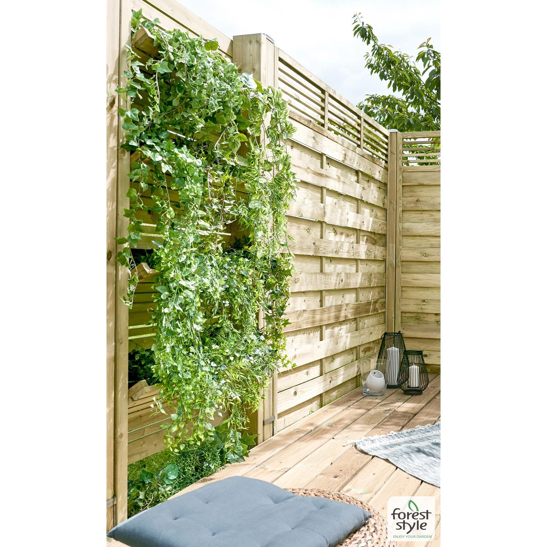 Mur Végétal Extérieur Palette panneau bois occultant végétal, l.90 x h.180 cm, naturel