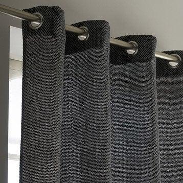 Rideau tamisant, Erik, gris foncé, l.140 x H.260 cm INSPIRE