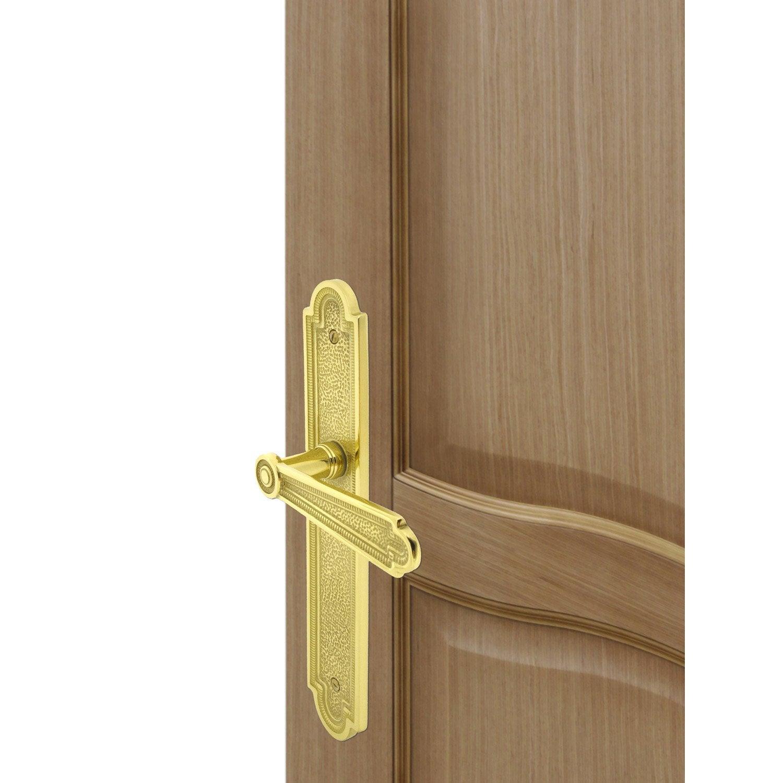 Poign e de porte r gence sans trou inspire laiton 195 mm - Poignee de porte baroque ...