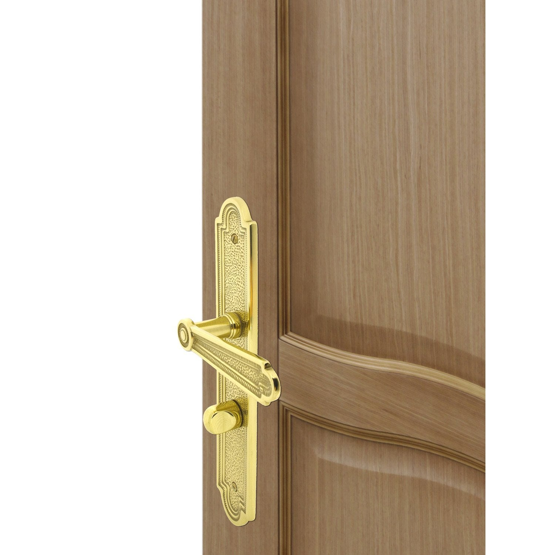 poign e de porte r gence condamnation inspire laiton 195 mm leroy merlin. Black Bedroom Furniture Sets. Home Design Ideas