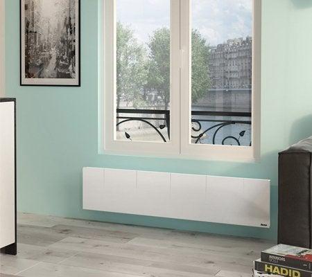 radiateur lectrique connect inertie pierre sauter gyali plinthe 1500 w leroy merlin. Black Bedroom Furniture Sets. Home Design Ideas