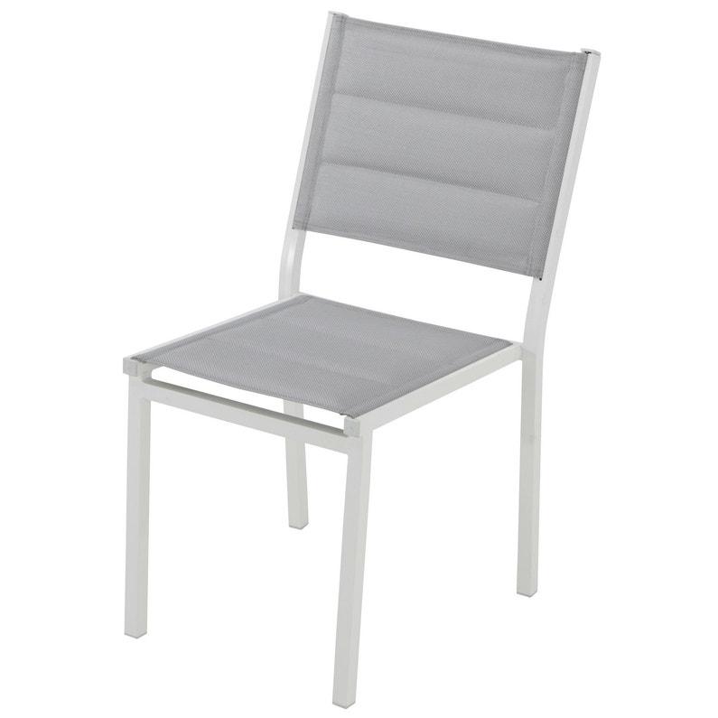Chaise Chaise En Aluminium Lisboa Blanc