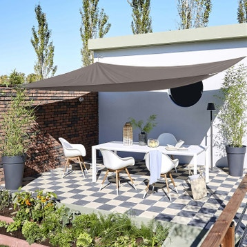 voile d 39 ombrage toile tendue terrasse jardin au meilleur prix leroy merlin. Black Bedroom Furniture Sets. Home Design Ideas