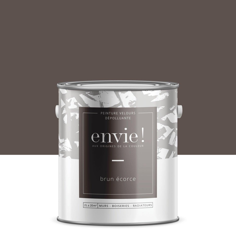 peinture mur, boiserie, radiateur envie, brun écorce, 2 l, velours