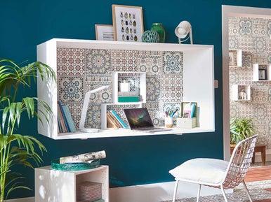 12 id es pour am nager un espace bureau leroy merlin. Black Bedroom Furniture Sets. Home Design Ideas