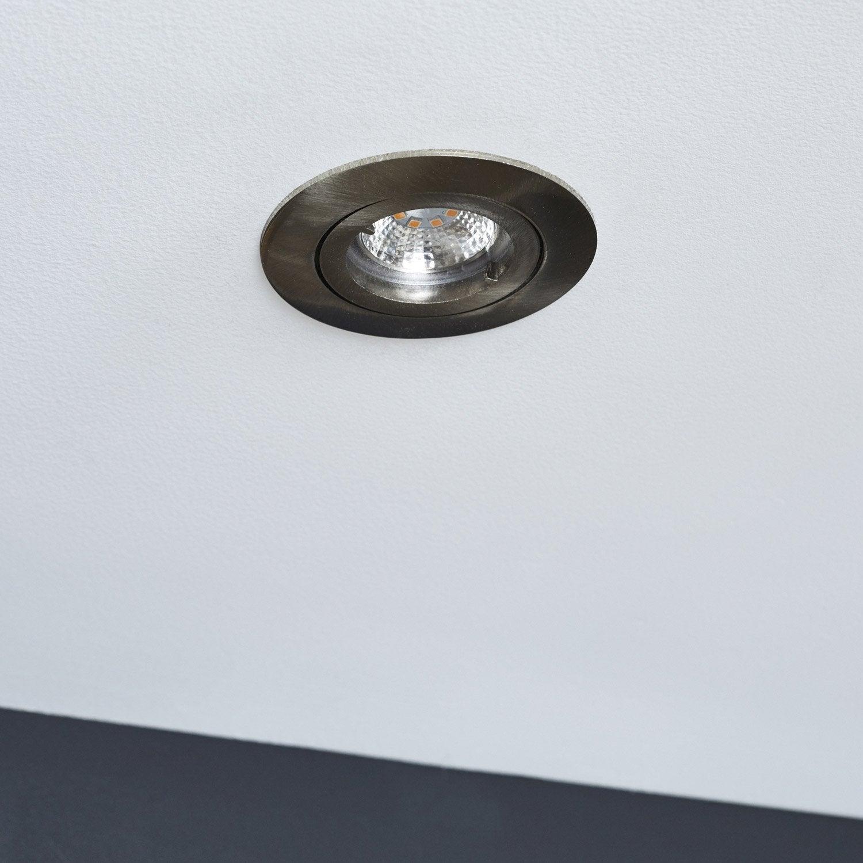kit 1 spot encastrer bama orientable led inspire gu10. Black Bedroom Furniture Sets. Home Design Ideas