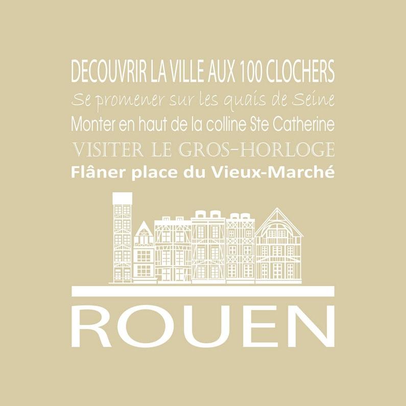 Toile Imprimée Rouen Beige Artis L30 X H30 Cm