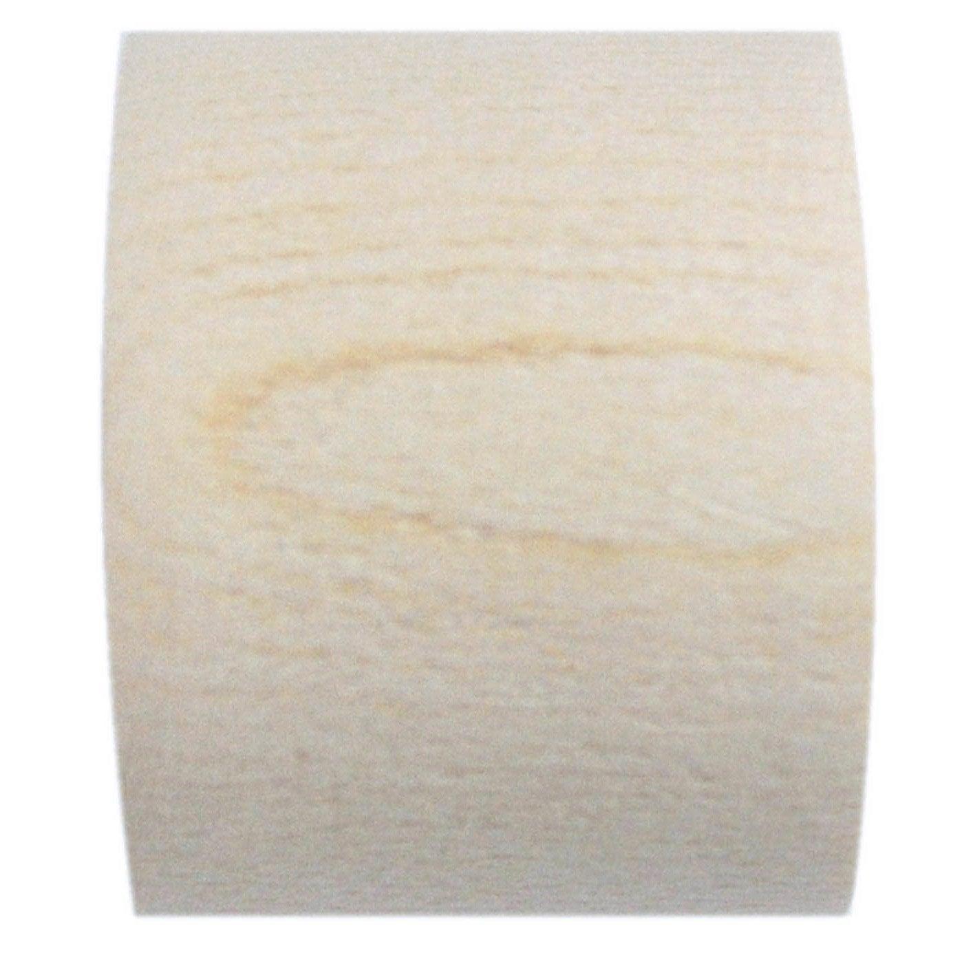 Lot de 2 embouts INSPIRE, ivoire verni, pour tringle à rideau Diam.28 mm