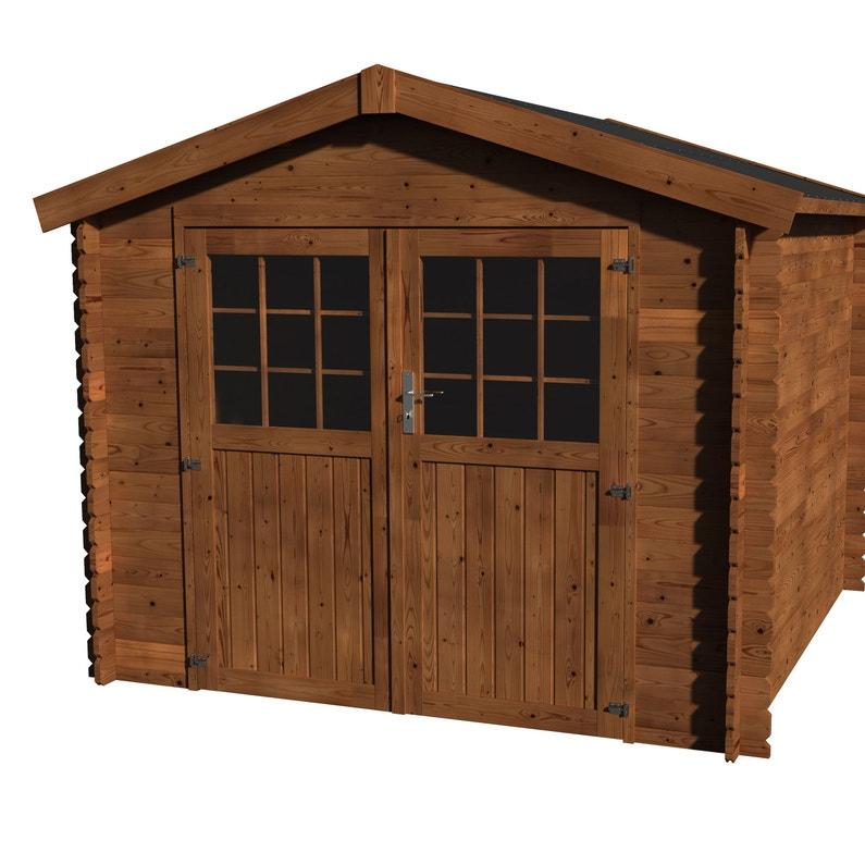 Abri de jardin bois NATERIAL Kabeo axess+ traité autoclave Ep.28 mm, 5.90 m²