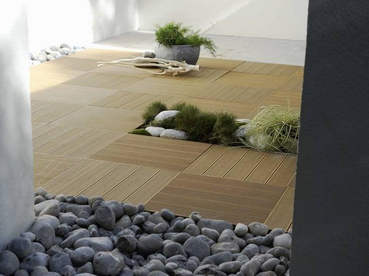 Une terrasse en bois et composite for Deco pour terrasse en bois